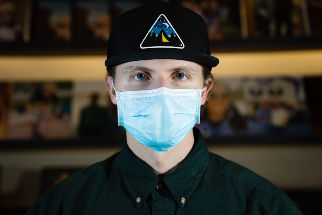 Matt Newey with mask