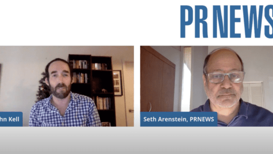 John Kell and Seth Arenstein on PRNEWS Live