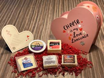Valentine Heart full of Wisconsin cheese
