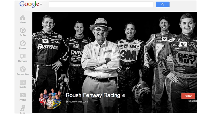 Use of Google+ : Roush Fenway Racing - RFR Google+ Drive