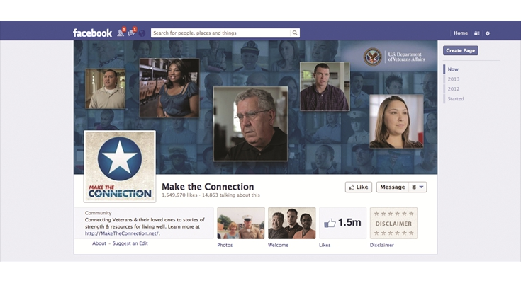 Facebook: Community/Engagement: U.S. Department of Veterans Affairs - Make the Connection
